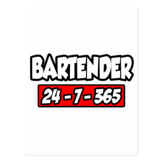 Bartender 24-7-365 postcard