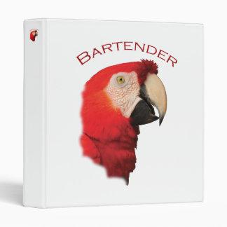 Bartender 3 Ring Binder