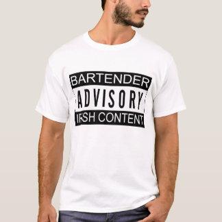 Bartender Advisory Irish Content Shirt