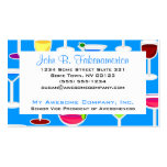 Bartender / Alcoholic Drinks Theme - Blue Double-Sided Standard Business Cards (Pack Of 100)