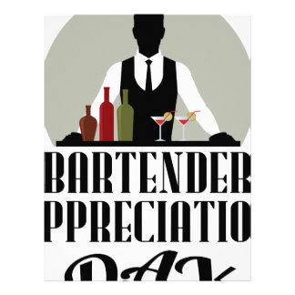 Bartender Appreciation Day Letterhead