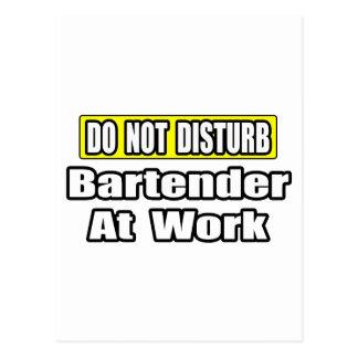 Bartender At Work Postcard