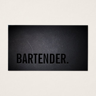 Bartender Bold Text Minimalist Wine Business Card