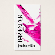 Bartender Business Card at Zazzle