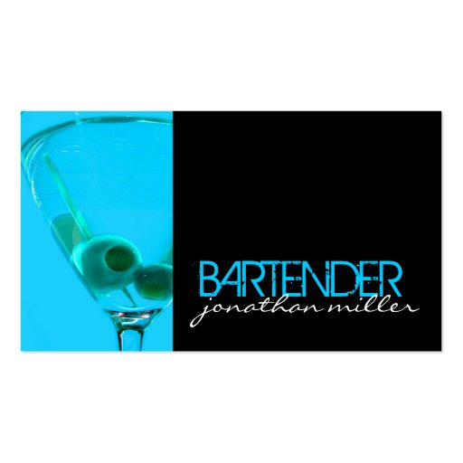 Bartender business card zazzle for Zazzle business card