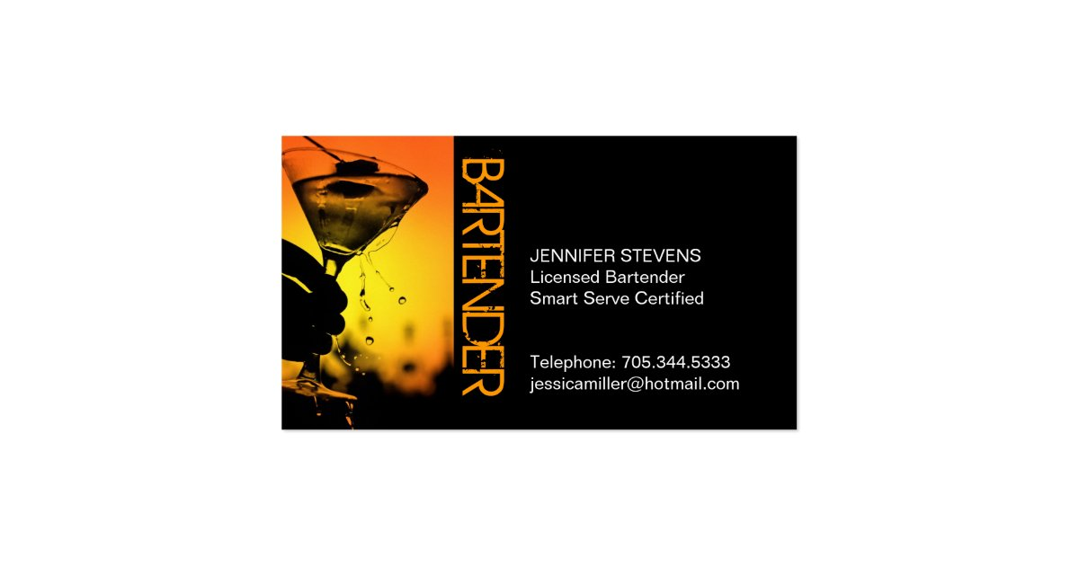 Bartender business card zazzle for Where can i use my synchrony home design card