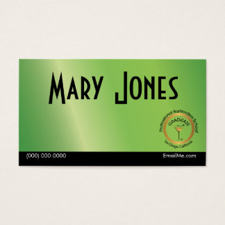 Bartender Business Card Lime Green Martini Logo