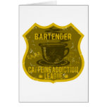 Bartender Caffeine Addiction League Card
