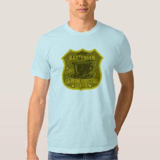 Bartender Caffeine Addiction League T-shirt