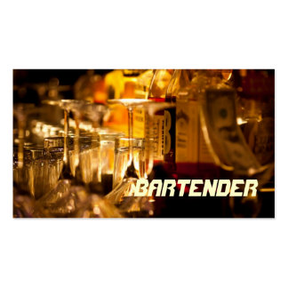 Bartender Club Nightlife Business Card