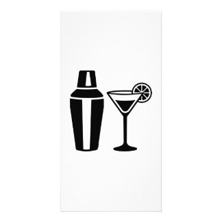 Bartender cocktail party picture card