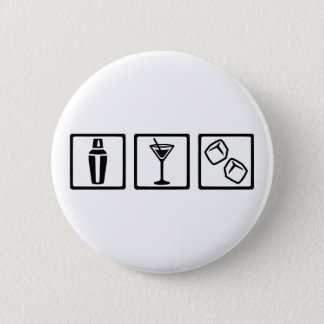Bartender cocktail party pinback button