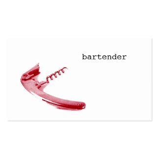 bartender corkscrew business card template