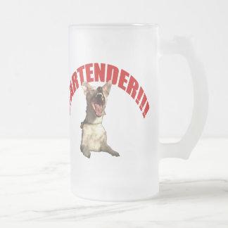 Bartender!!! Frosted Glass Beer Mug