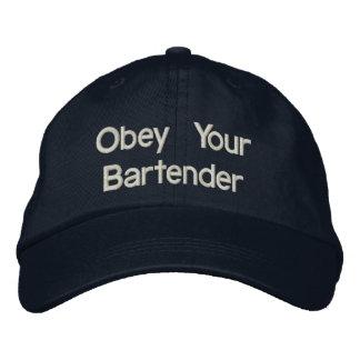 Bartender Hats - Obey Your Bartender Baseball Cap