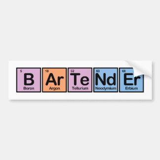 Bartender made of Elements Bumper Sticker