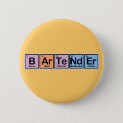 Round Button with Bartender design