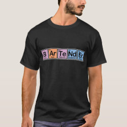 Men's Basic Dark T-Shirt with Bartender design