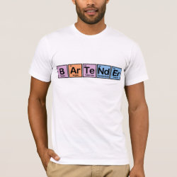 Men's Basic American Apparel T-Shirt with Bartender design