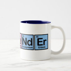 Two-Tone Mug with Bartender design