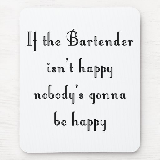 Bartender Mouse Pad