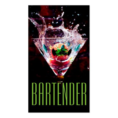 Nightlife Bartender Profile Cards