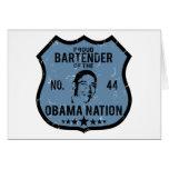 Bartender Obama Nation Card