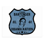 Bartender Obama Nation Postcard