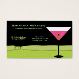 Bar owner business cards templates zazzle bartenderowner bar business card colourmoves