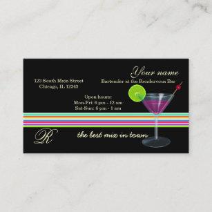 Bar owner business cards zazzle bartenderowner bar business card colourmoves