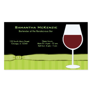 Bartender/Owner Bar Double-Sided Standard Business Cards (Pack Of 100)