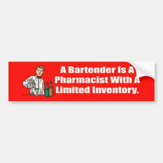Bartender Pharmacist Bumper Sticker