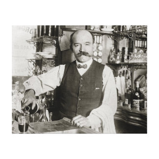 Bartender Pouring Drink, 1910 Canvas Print