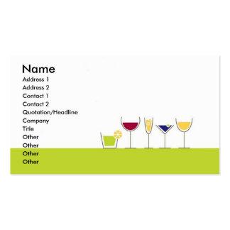 Bartender Profile Card Business Cards