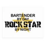 Bartender Rock Star Postcard