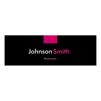 Bartender - Rose Pink Compact Business Cards