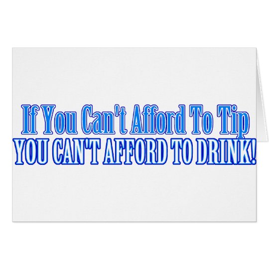 Bartender Saying Card