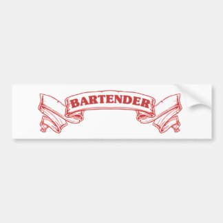 Bartender Scroll Bumper Sticker