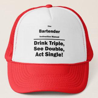 bartender trucker hat