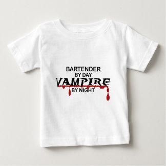 Bartender Vampire by Night Baby T-Shirt