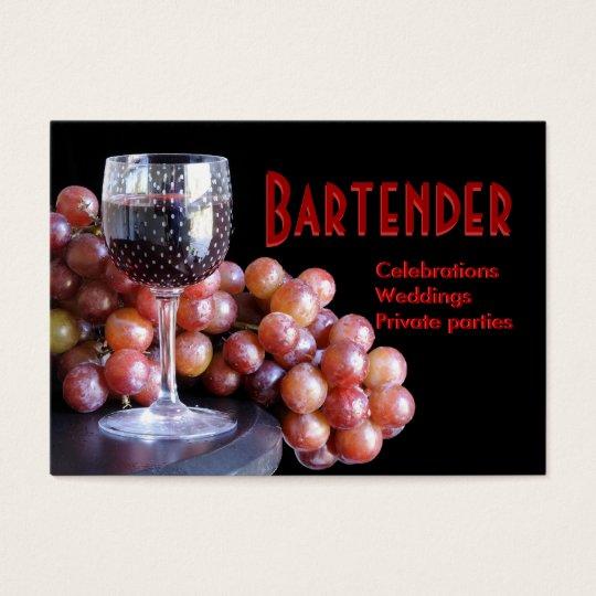 Bartender - weddings, parties business card