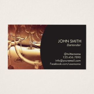 Bartender Wine Taster Business Card