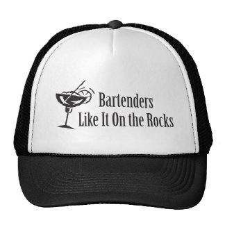 Bartenders Like It On the Rocks Trucker Hat