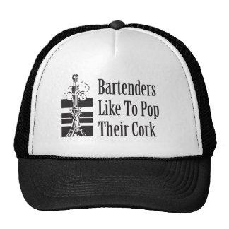 Bartenders Like to Pop Their Cork Trucker Hat