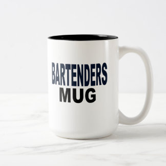 """BARTENDERS MUG"", gifts for the bartender Two-Tone Coffee Mug"