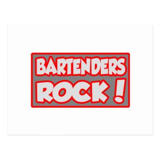 Bartenders Rock! Postcard