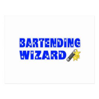 Bartending Wizard Postcard