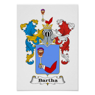 """Bartha Family Hungarian Coat of Arms 11x15"""" Prin Poster"""