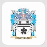 Barthelme Coat of Arms Square Stickers