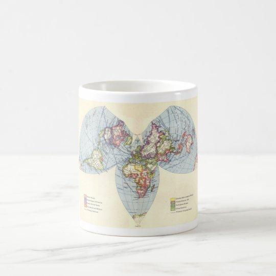 Bartholomew Kite Projection World Map Coffee Mug